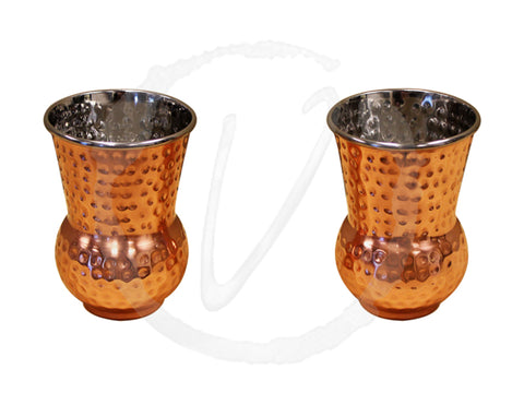 Vinotemp Epicureanist Hammered Copper Tumblers EP-TMBL01 - Good Wine Coolers