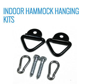 Indoor hammock hanging kit