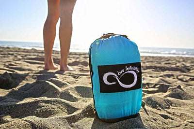 Beach Blanket - Live Infinitely 9' X 10' Sand Free Nylon Beach Blanket