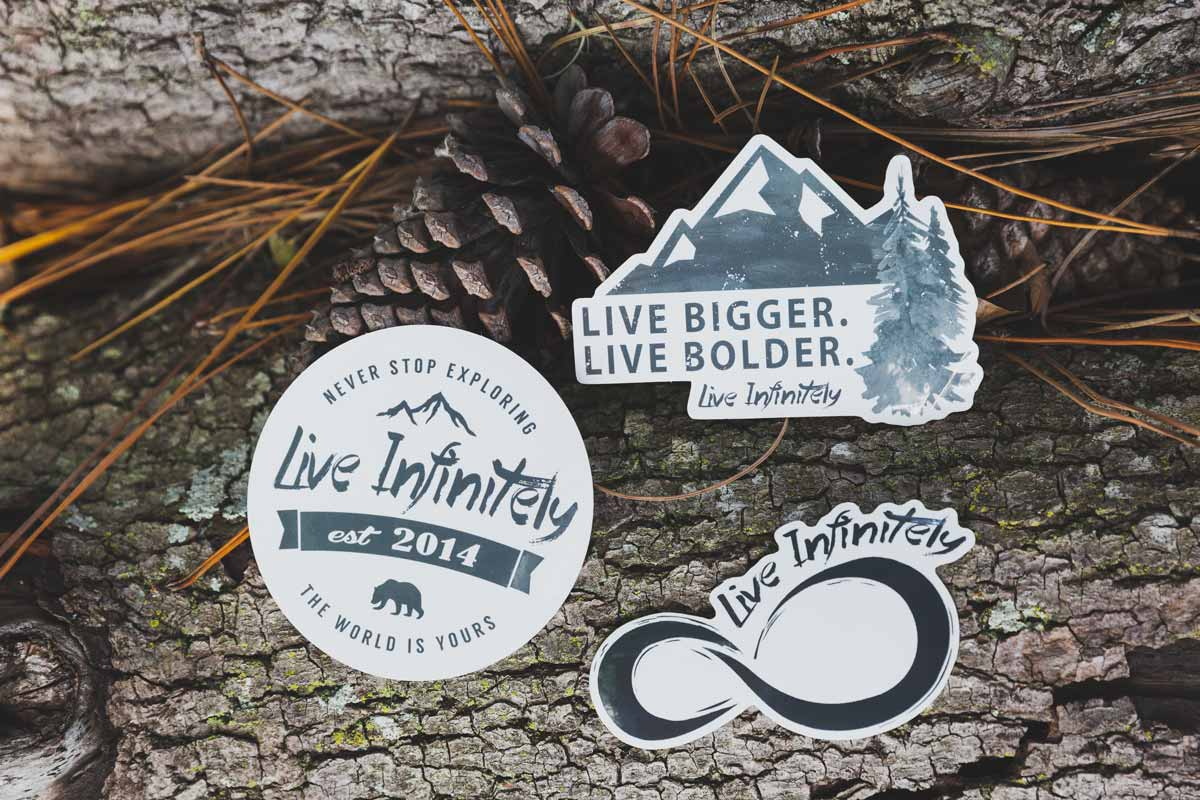 Stickers - Live Infinitely Sticker Pack