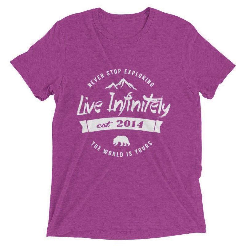 Unisex Never Stop Exploring Live Infinitely Casual Tee