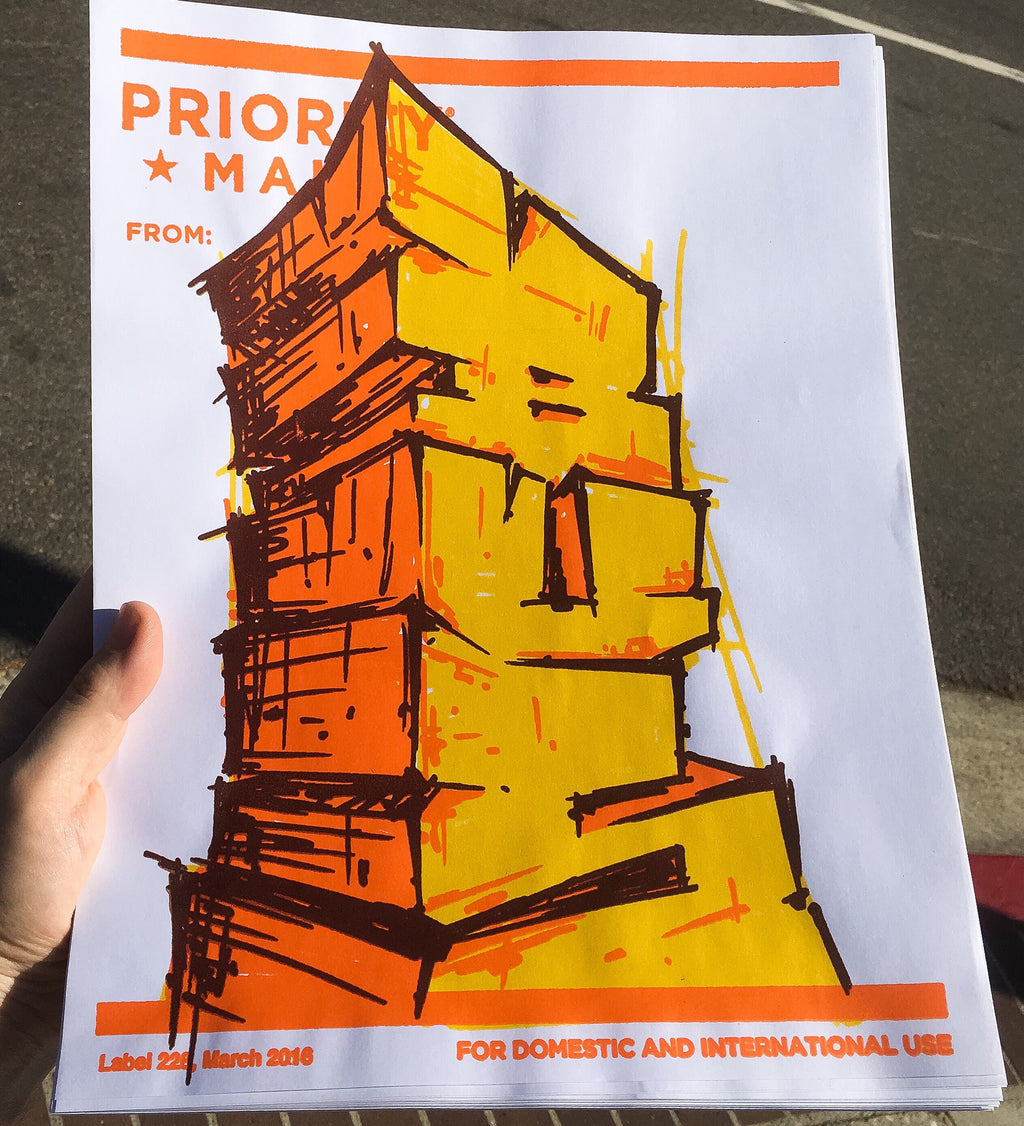 "Priority Mail From: Bus 11""x14"""