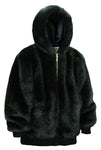 Ablanche Urban Fur Fitter Hoooded Men's Faux Fur Reversible Jacket 9FJ02 Mink Black