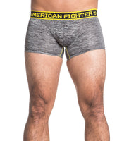 American Fighter Curtis Mens Boxer Briefs FM3887 Black Grey Neon Yellow