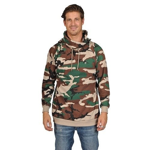 ARSNL Mens Pullover Ninja Hoodie 3367 Camo Olive Tradition