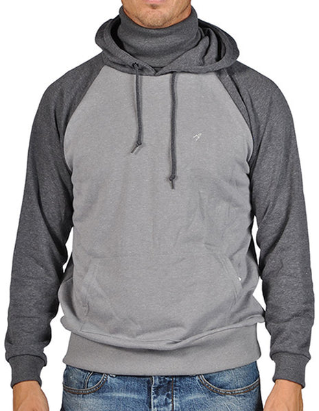 ARSNL Men's Pullover Ninja Hoodie 3371 Heather Grey Charcoal Gray