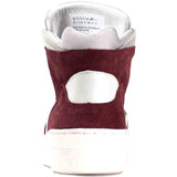 Article No. 0225-0414 Mens High Top Sneakers Shoes Maroon White