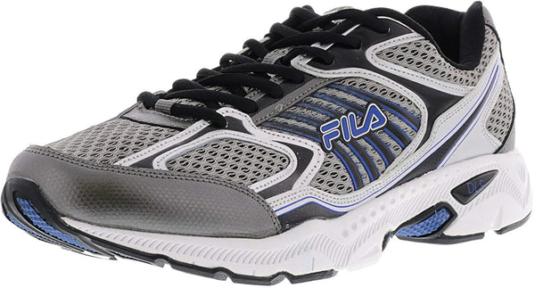 Fila Mens Memory Inspell Running Shoes 1SR20605-057 Dark Silver Black Prince Blue Size- 13