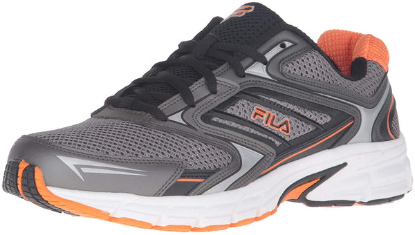 Fila Mens XTENT 4 Running Shoes 1SR21122-054 Dark Silver Black Vibrant Orange Size- 8