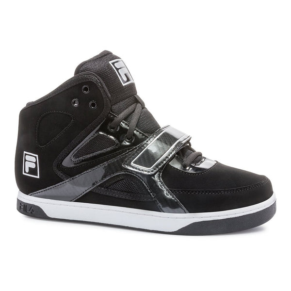 Fila Mens Underdog 2 Fashion Sneakers 1SC60285-010 Hi Top Black Metallic Silver Size- 8.5