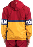 Iro-Ochi Off Course Mens Pullover Windbreaker Crimson 37115 Red Yellow Navy