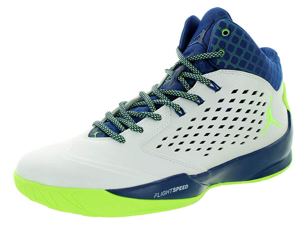 Jordan Rising High Mens Basketball Shoes White Ghost Green Insignia Blue Infrared 23 768931-102
