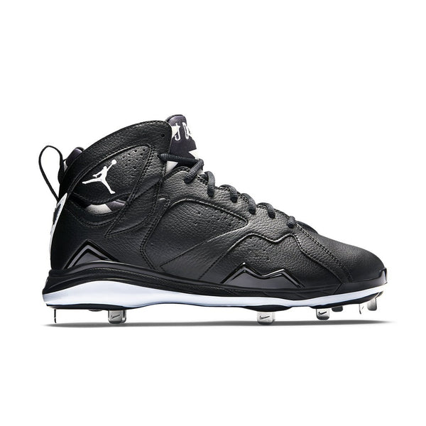Air Jordan 7 Retro Metal Mens Basketball Cleats Black White 684943-010, Size: 10