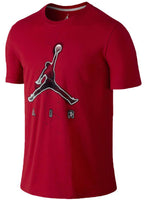 Nike Air Jordan Jumpman 23 AJ Mens Bright Lights Short Sleeve T-Shirt Red 689123-687