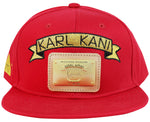 Karl Kani Gold Plate Snapback Embroidered Hat Red