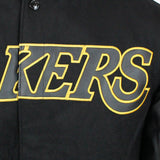 JH Design NBA Men's Reversible Fleece Jacket Los Angeles Lakers Black-XS