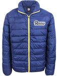 Men's Packable Down Jacket NFL Los Angeles Rams Navy Blue