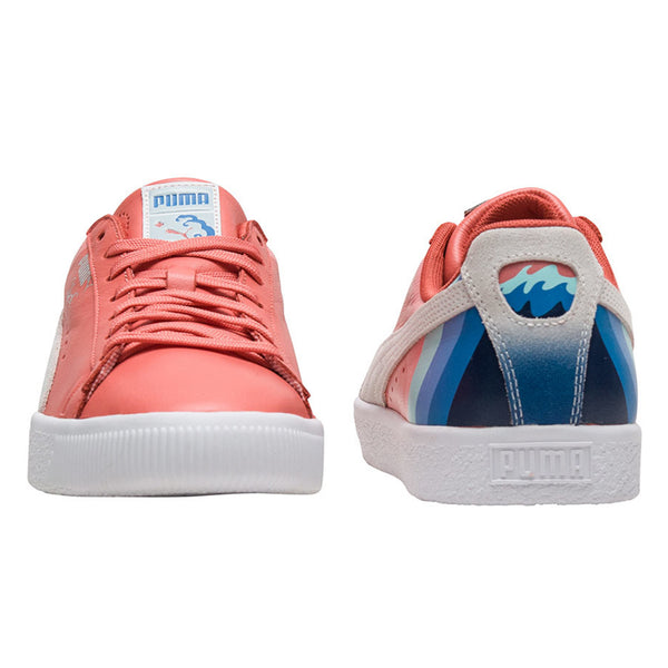 buy popular f69da 033f7 Puma Clyde Pink Dolphin Mens Leather Low Top Fashion ...