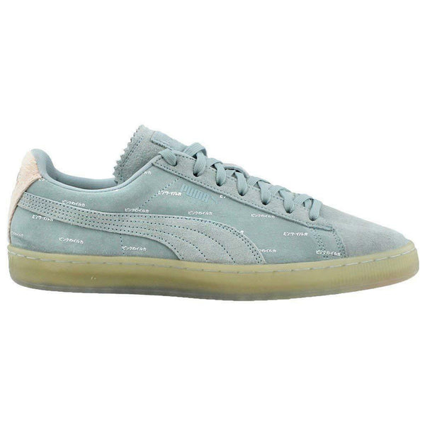 Puma Mens  Suede v2 Pink Dolphin Low Top Fashion Sneakers 365031 Ether Blue