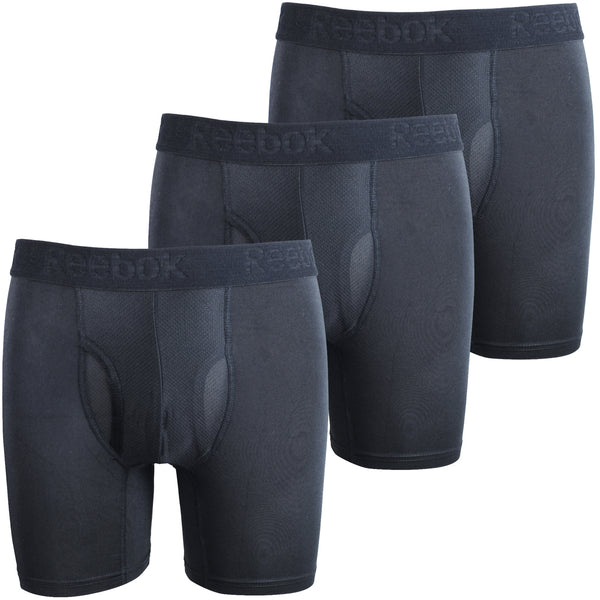 Reebok Mens Performance Training Boxer Briefs Black Pack of 3 size SMALL