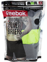 Reebok Mens Performance Training Boxer Briefs Black Phantom Grey Print Pack of 3