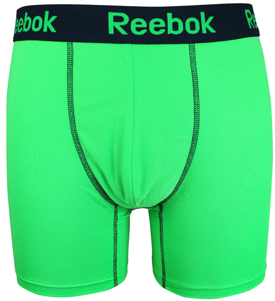 Reebok Mens Performance Training Boxer Briefs Green Black size MEDIUM