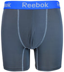 Reebok Mens Performance Training Boxer Briefs Grey Blue size SMALL