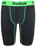 Reebok Mens Performance Training Boxer Briefs Black Green