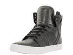 Supra Mens Skytop Hi Top Leather Fashion Sneaker Shoes Pewter Metalic White S18259