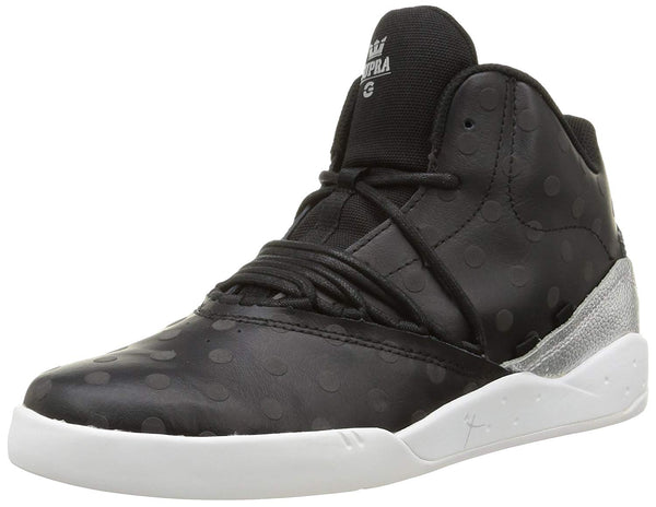 Supra Mens Estaban Hi Top Leather Fashion Sneaker Shoes Black White S04112