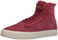 Supra Mens Belmont High Hi Top Suede Fashion Sneaker Shoes Red Port Bone S59504