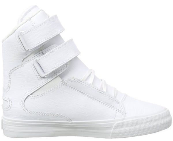 095e426467a5 ... Supra Mens Society II Hi Top Leather Fashion Sneaker Shoes White Red  S34185