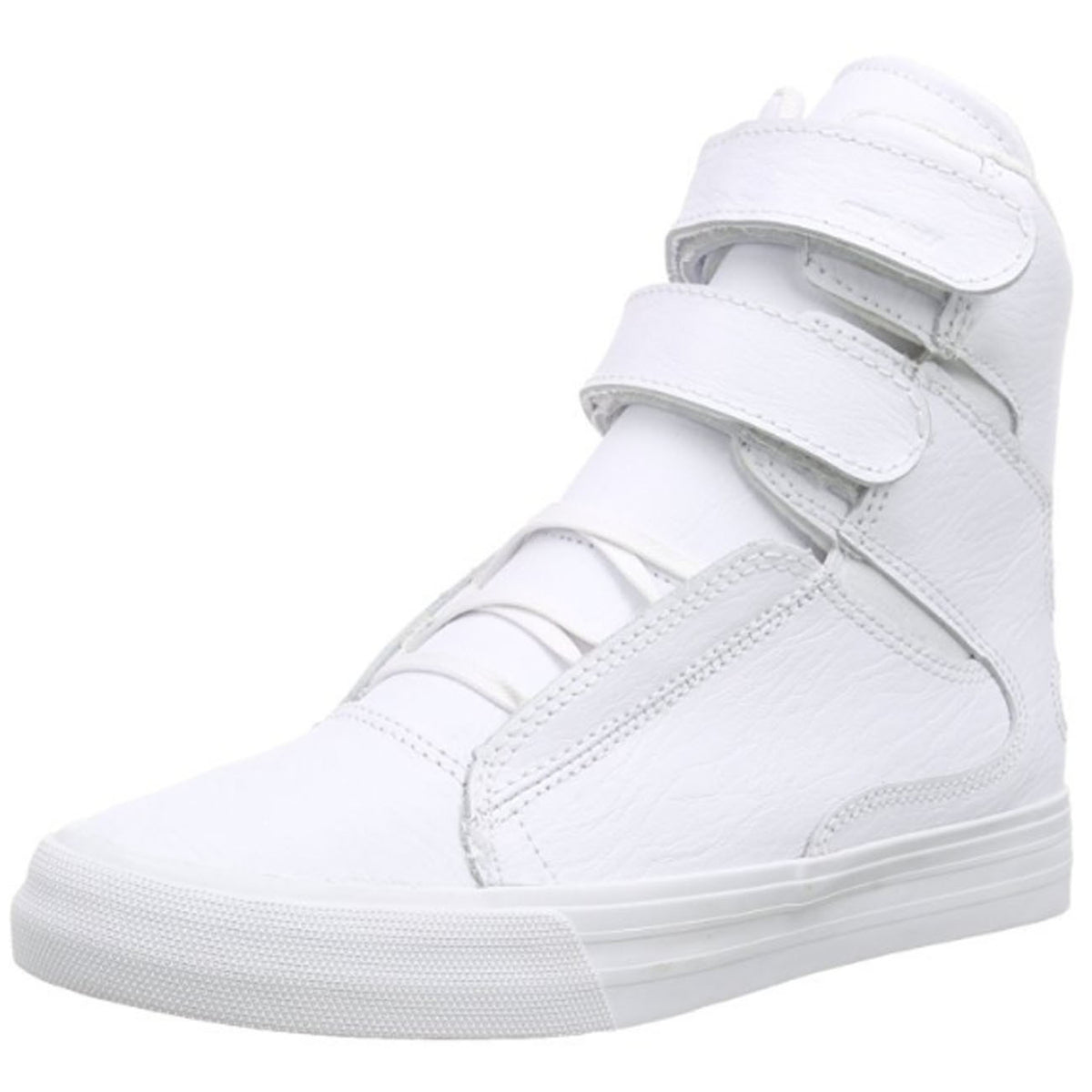 d468510fb861 Supra Mens Society II Hi Top Leather Fashion Sneaker Shoes White Red S34185