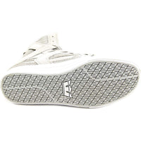 Supra Mens Skytop II Hi Top Suede Mesh Fashion Sneaker Shoes Light Grey White 08008-042-M