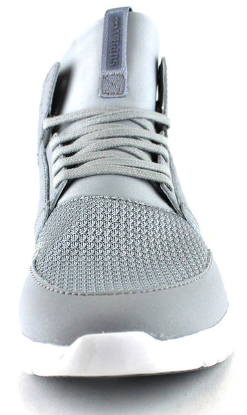 decaffccc8b ... Supra Mens Method Mid Top Leather Mesh Athletic Sneaker Shoes Light  Grey White 08022-013 ...