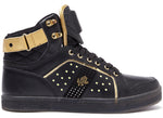 Vlado Footwear Lyte II Mens LED Light Hi Top Leather Sneakers IG5802-02 Black