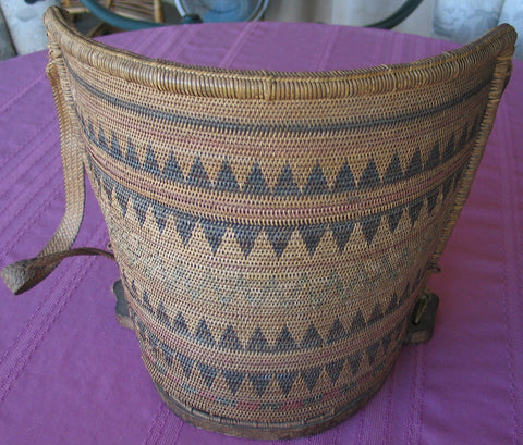 EARLY 20TH CENTURY BABY CARRIER OF THE KENYAH PEOPLE OF SARAWAK