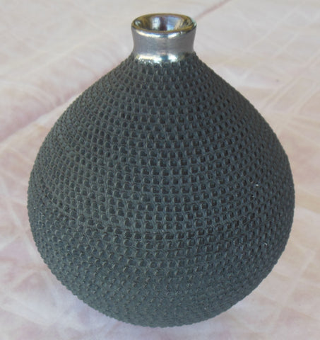 Mata Ortiz Hand Coiled Pottery by Ismael Sandoval fish scale design