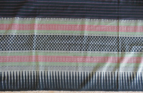Exquisite Old Cambodian woman's finely woven wrap-around skirt dress