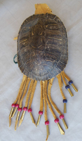1960 TRADITIONAL NATIVE AMERICAN CHEYENNE TURTLE PURSE MADE BY OTTER SMITH