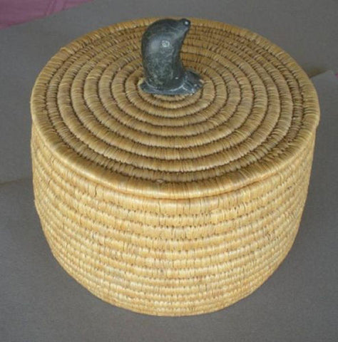 INUIT LYME GRASS BASKET - SOLD