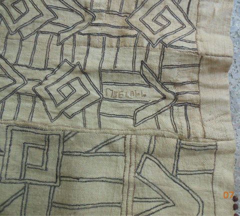 20th C. KUBA ZAIRE RAFFIA EMBROIDERY CEREMONIAL SKIRT  - SOLD