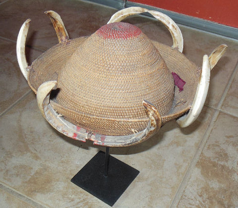 RARE ANTIQUE CAMBODIAN OR NAGALAND HAT
