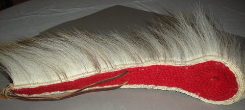 Vintage 1960's Native American Porcupine hair roach headdress