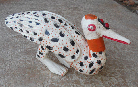 BOZO SPECKLED DUCK PUPPET FROM MALI, IVORY COAST -  SOLD