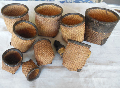 SET OF ELEVEN NESTING WEDDING BASKETS FROM BURKINA FASO