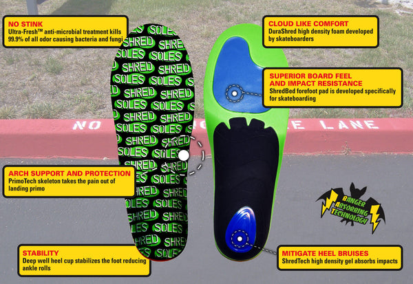 Shred Soles Performance Skateboarding Insoles