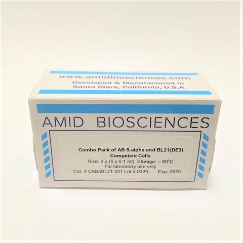 Combo Pack of AB 5-alpha and BL21(DE3) Competent Cells | Amid Biosciences | AB 5-alpha and BL21(DE3) Competent Cells | Protein Expression