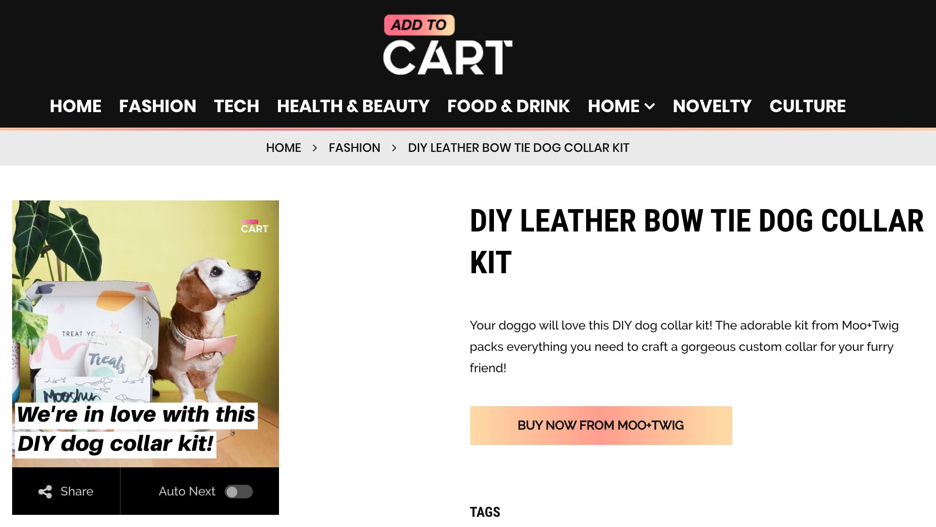 Add to Cart - Moo and Twig DIY Dog Collar Kit