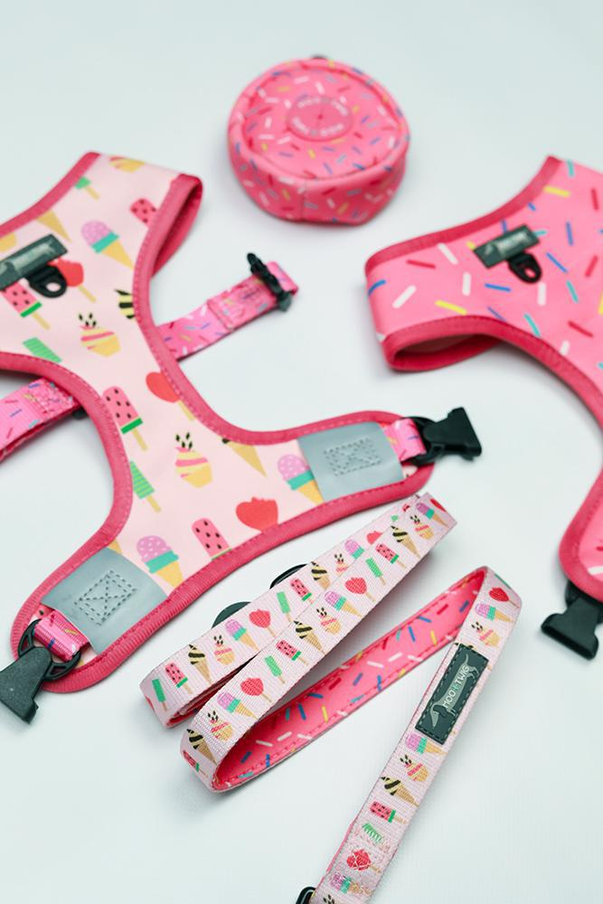 REVERSIBLE DOG HARNESS - Sweet Treat